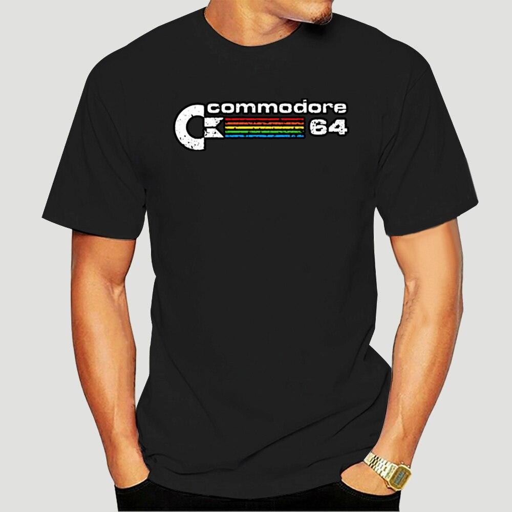 Командная Ретро футболка с эффектом потертости, командная футболка 64, командная футболка 64, Классическая футболка для старого компьютера, 8 ...