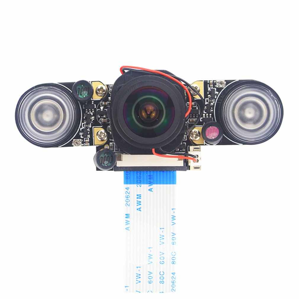 Camera module For Raspberry Pi 4 Model B/3B+/3B/2B Fisheye Wide Angle Camera 175 Degree IR-CUT Automatic Switching Day and Night