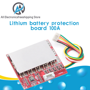 3S 4S 5S 100A BMS Board/ 3.7V Lithium battery protection board/3.2V iron phosphate/LiFePO4 battery BMS board with Balance image