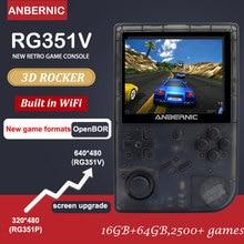 새로운 ANBERNIC RG351V WIFI rk3326 16G 레트로 게임 에뮬레이터 IPS 3.5 인치 클래식 게임 미니 레트로 콘솔 선물