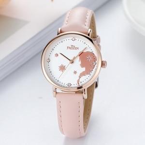 Image 5 - ดิสนีย์แช่แข็งชุดเจ้าหญิง Elsa Snow อินเทรนด์หรูหรานาฬิกาเด็กเด็กผู้หญิงรัก Noble นาฬิกาควอตซ์นักเรียนนาฬิกาของขวัญ