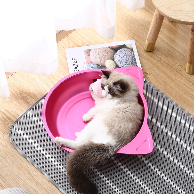 Pet Supplies Online Celebrity Color Aluminum Cat Face Cat Feeding Bowl Refreshing Cold Heat Dissipation Cat Feeding Bowl A Gener