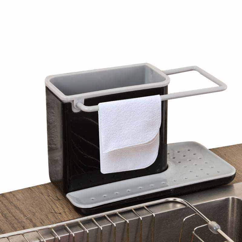 Storage Shelf Sponge Kitchen Draining Sink Box Draining Rack Dish Storage Rack Kitchen Organizer Stands Tidy Utensils Towel Rack