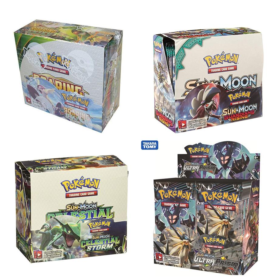 324pcs Pokemon Cards TCG: Sun & Moon Series Booster Box Collectible Trading Card Game Kids Toys