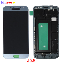 J530 regolabile per SAMSUNG Galaxy J5 Pro 2017 J530 J530F Display LCD Touch Screen Digitizer Assembly con cornice