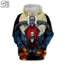 Pumpkin King Jack Skelling print Men 3d Hoodies Halloween Christmas Skull cosplay Sweatshirt tshirt pullover women suit