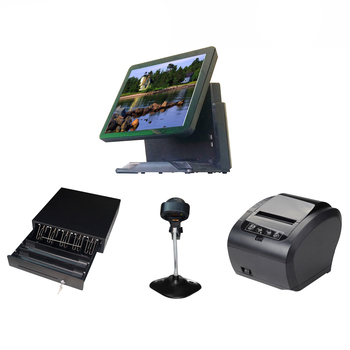 Wholeset Pos terminal machine All In One pos Point Of Sales cash register with  80mm printer scanner cash drawer