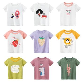 Girls Cartoon T-shirts Kids Boys Animals and Fruits Print T Shirt  Children Summer Short Sleeve T-shirt Cotton Tops Clothing майка print bar summer fruits
