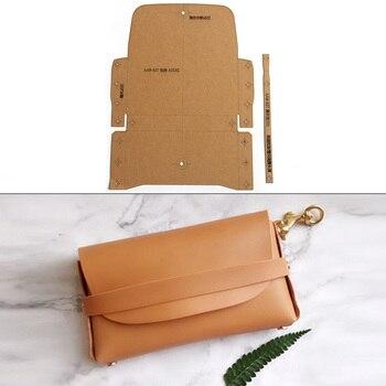 Handmade paper template ladies handbag wallet shoulder bag pattern kraft paper mold simple fashion style handbag pattern