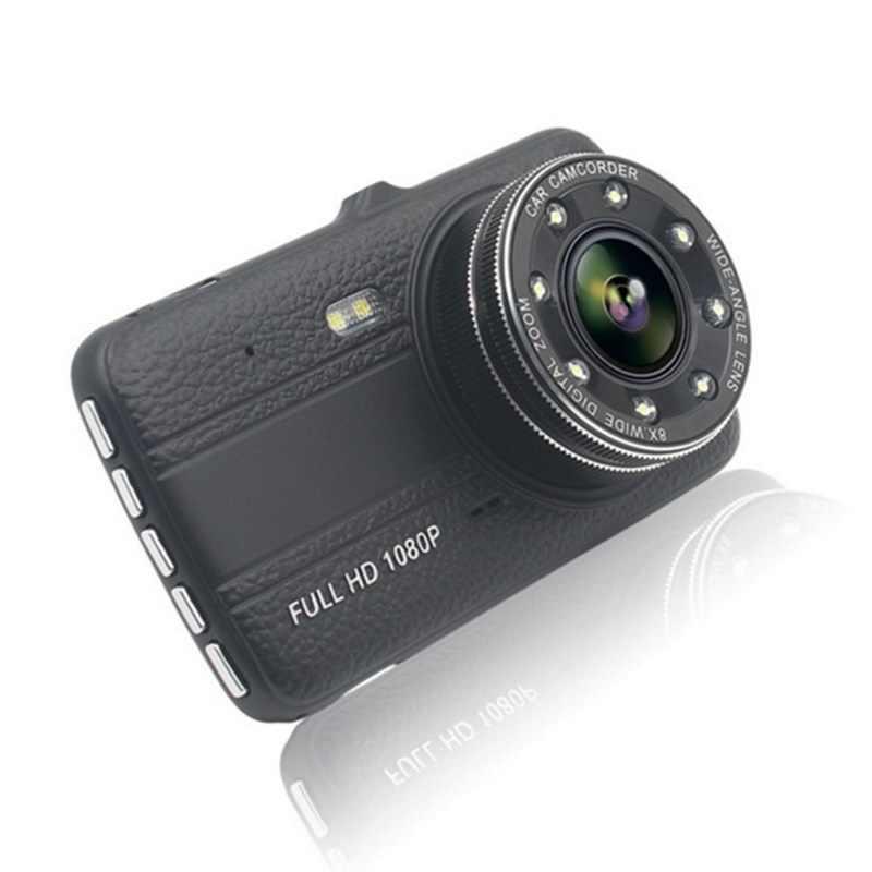4 بوصة IPS DVR داش كاميرا كام كامل HD مسجل فيديو مسجل السيارات كاميرات مزدوجة في السيارات داشكام مركبة أسود DVRs صندوق