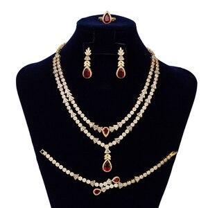 Image 5 - Женский комплект украшений, колье, серьги и браслет