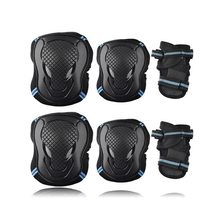 6pcs/set Skateboard Ice Roller Skating Protective Gear Elbow Pads Wrist Guard Cycling Riding Knee Protector for Kids Men Women