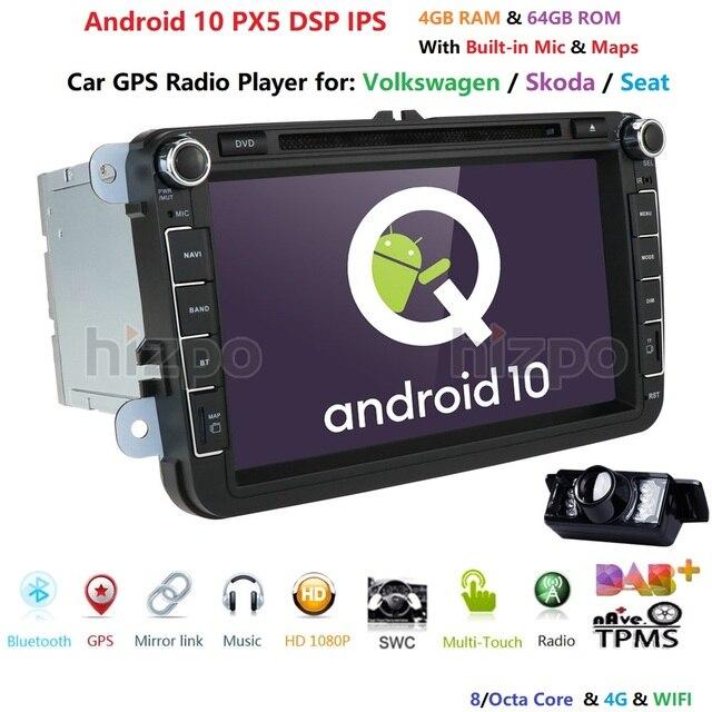 2din android10.0 4Gcar dvd for vwpassat b6 b7 golf 5 tiguan polo octavia rapid fabia car multimedia player OctaCore 4GRAM+64GROM