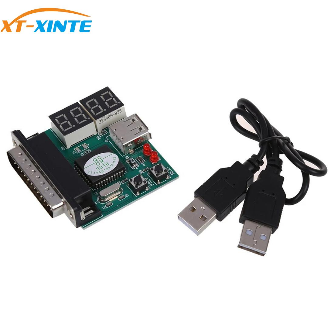 XT-XINTE Computer 4-Digit Laptop PC Motherboard USB& PCI Analyser Diagnostic Test Post Card Tester For Notebook Laptop