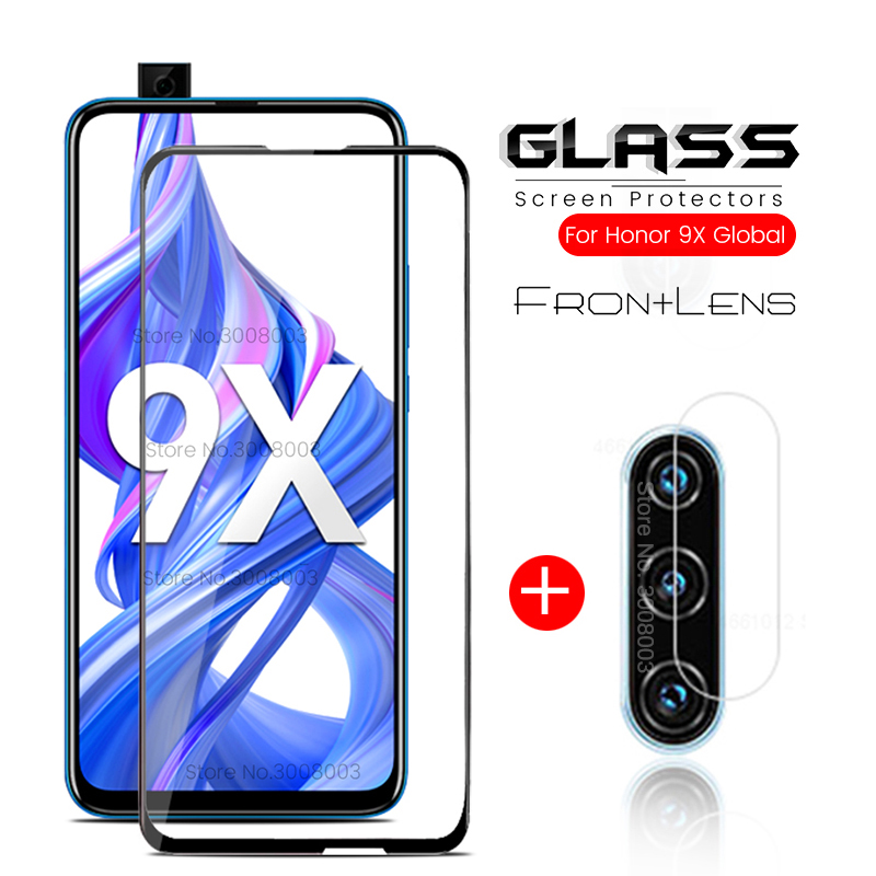 2-in-1 Protective Glass For Honor 9x Global Version Glass Screen Protector On Honor 9x Premium 9 X Honor9x X9 STK-LX1 Safe Film