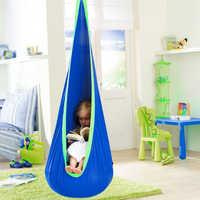 Hanging Seat Tree Hammock Chair Zipper Indoor Roof Courtyard Outdoor Space Saving Home Swing Pod Children Comfortable