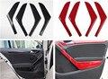 4 шт./лот  автомобильные наклейки  АБС-пластик  углеродное волокно  для внутренней двери  подлокотник  декоративная крышка для 2009-2013 Volkswagen VW ...
