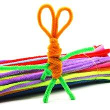 100 pçs artesanal colorido lã raiz topo barra de torção artesanal macio barra fio ferro criativo pelúcia diy jogar decorações chuveiro do bebê