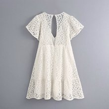 2020 Summer New Short-Sleeved Lace Flower Embroidered zaraing vadiming sheining women Jumps