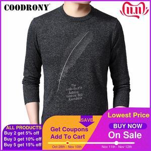 Image 1 - COODRONY suéter informal de punto para hombre, Jersey de algodón con cuello redondo, jersey de lana para hombre, moda de otoño e invierno, 91080