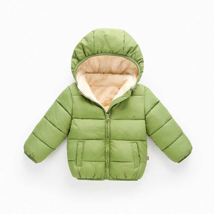 5 色 2020 秋冬新ぬいぐるみとベルベット暖かいパーカーパーカーベビーガールボーイ冬コートジャケット厚い上着服