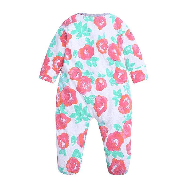 Wiosna jesień śliczne dziecko podwójny zamek błyskawiczny ubrania śpiące piżamy śpioszki dla niemowląt ubrania dla małych chłopców dziewcząt noworodka kombinezony 0-18M