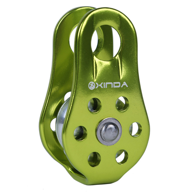 Outdoor Bearing Lifting Rock Climbing Fixed Rope Pulley Equipment