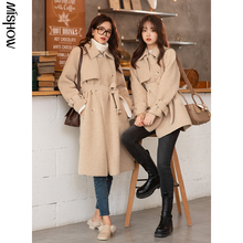 Wool-Coats Outerwear Belt Casual Jackets Long-Sleeve Female Winter Women MISHOW for Outdoor