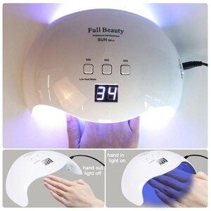 Image 3 - 42W Nail Lamp Dual Light UV LED Dryer for Manicure Curing Gel Polish Lamp 30s/60s/99s Low Heat Mode Nail Art Tools LASUNX9Plus 1