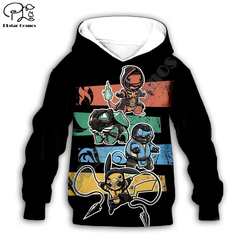 Kids Cloth Pokemon  Pikachu Cartoon 3d hoodies/tshirt/boy sweatshirt Hot Movie pant style-4