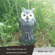 Garden Hot Sale Realistic Bird Repellent Fake Owl Decoy Bird Scarer For Pest Control Scarecrow Garden Yard Decoration(China)