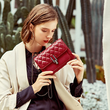 Кожаные сумки Европа и США Новая дикая сумка на плечо модная сумка-мессенджер с ромбовидной цепочкой