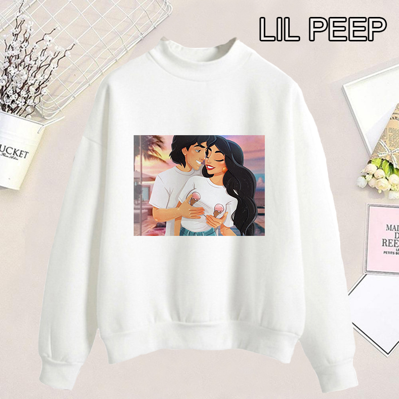 2019 Fashion 90s Women Naughty Style Jasmine And Aladdin Hoodies Women Summer Cotton Comfortable Kawaii Print Kpop Sweatshirt