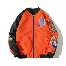 Yinice Jackets Coats Mens New Hip Hop Thin Tracksuit Coat Streetwear Men Pattern Stitching Baseball Jacket Bomber