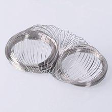 200 Loops 0.6mm 60mm Steel Memory Wire Bracelet Base for Jewelry Making DIY Bangle Bracelet