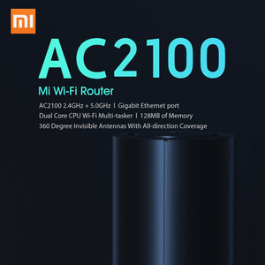 Image 2 - 100% Original Xiao mi Router AC2100 1733Mbps WiFi Repeater Gigabit Ethernet Port 2,4G 5G WiFi 128Mb mi WiFi Router APP Control
