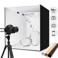 60*60 cm Photo box M60 photography studio lightbox 48W photo light tenet Tabletop Shooting SoftBox with Dimmer