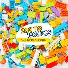 Lbla d1 200 a 1000 pçs clássico marca blocos de construção diy tijolos criativos a granel modelo figuras educacional crianças tamanho pequeno brinquedos