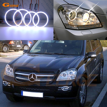 For Mercedes Benz GL Class X164 GL350 GL420 GL450 GL500 GL550 Excellent Ultra bright COB led angel eyes kit halo rings