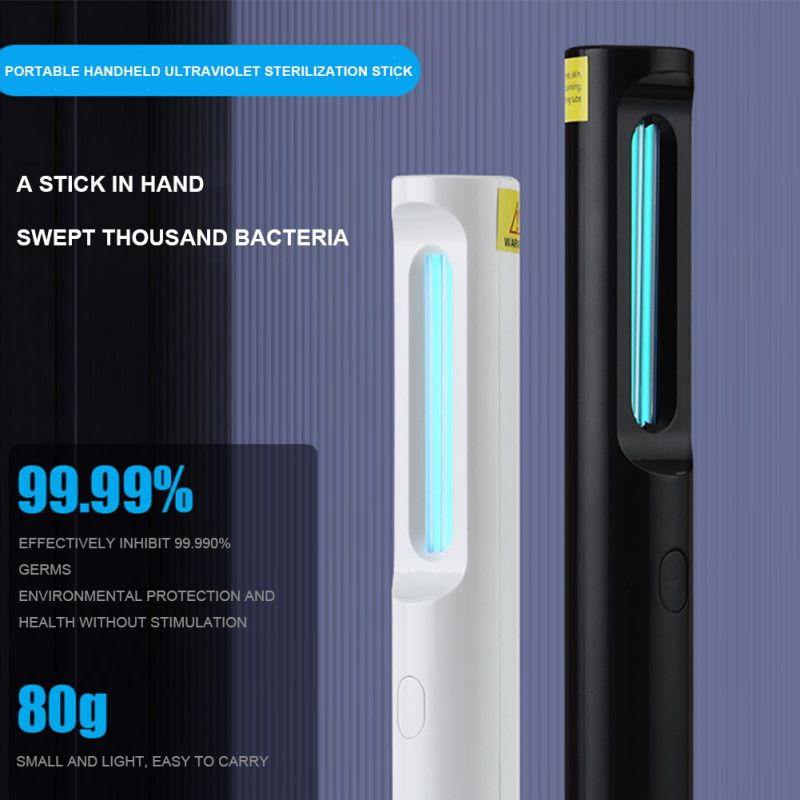 Durable Usb Charge sterilization stick disinfection rod personal care Traveling Sterilizer UV Sanitizer Light UV lamp Clean Air
