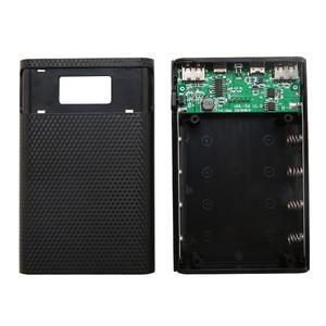 Image 5 - Dual USB Typ C Power Bank Fall DIY 4x18650 Handy 15000mAh Batterie Lagerung Box Ohne Batterie mit Smart Led anzeige