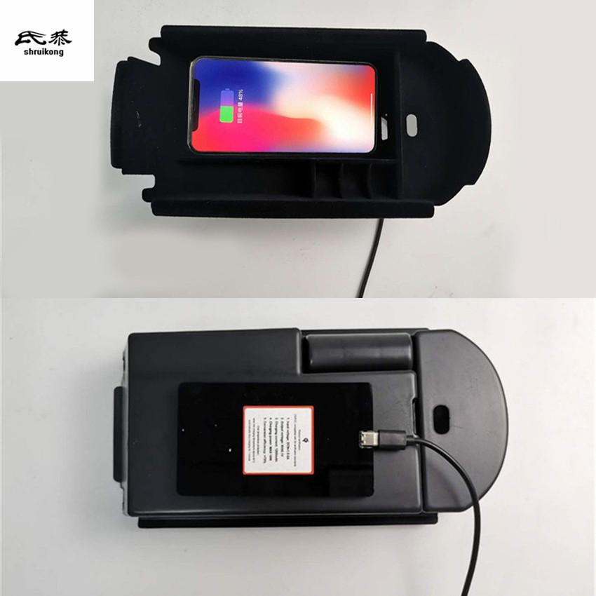 1lot Mobile Phone Wireless Charging Central Armrest Storage Box For 2016-2018 Toyota C-HR CHR C HR