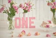 Laeacco розовые цветы Новорожденный ребенок 1 й День рождения