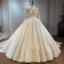 Marnham 2021 Woman Wedding Gown Champagne Bridal Dress Amazing Twinkle Full Beading High Quality Long Train Real Photo Work