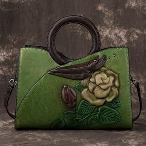 Image 3 - Johnature Retro Handmade Genuine Leather Women Handbag 2020 New Casual Tote Large Capacity High Quality Shoulder&crossbody Bags