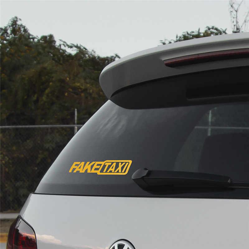 偽タクシー反射車の自動車ステッカー窓オートバイヴァンビニールデカール自己粘着エンブレムバッジホンダトヨタvw bmw車スタイリング
