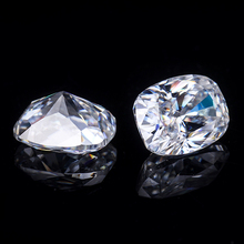 Starszuan Jewel certyfikowany 7*9mm dobrej jakości poduszka VVS Moissanite kamień najlepsza cena do tworzenia biżuterii tanie tanio Cheester Gems GDTC WHITE Excellent Grzywny Antique cushion Jewerly marking 9 25mohs