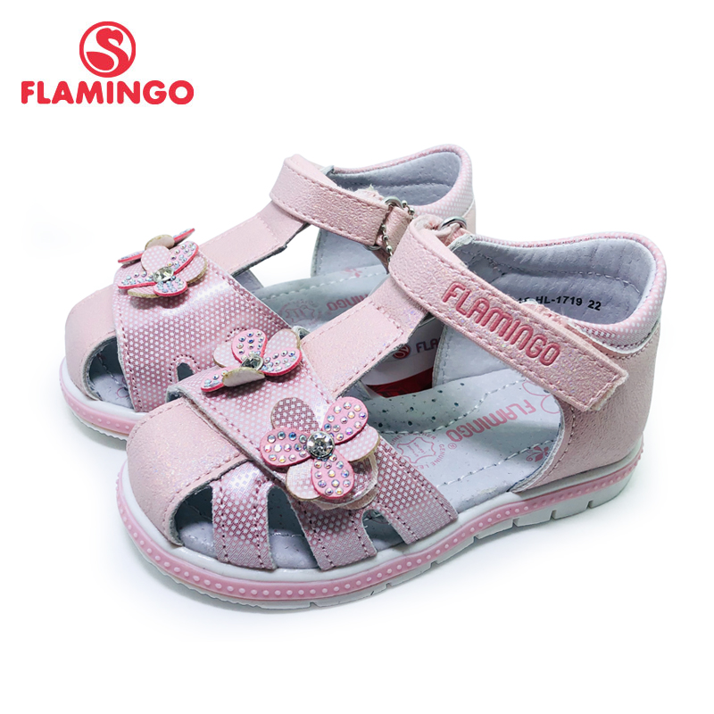 Детские сандалии с застежкой липучкой FLAMINGO, на плоской подошве, с арочным дизайном, повседневная обувь принцессы, размер 22 27, для девочек, 201S HL 1719 Сандалии      АлиЭкспресс