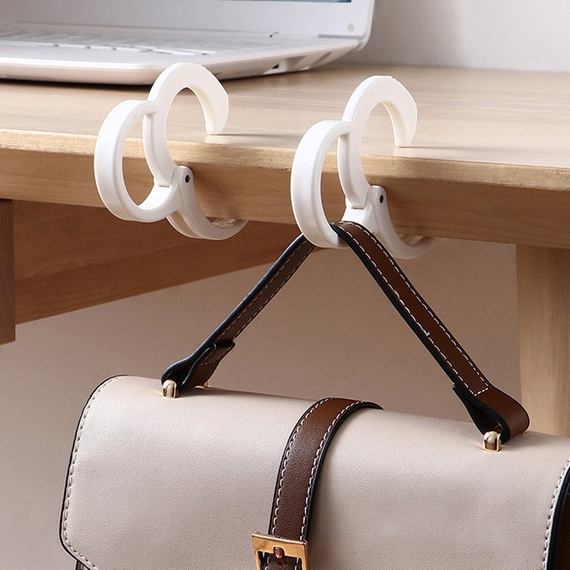 Handbag Hanger Portable Bag Hook Hanger for Women Purse Holder Under Table Bar Counter Handbag Storage Hanger Hooks 2 Pack Purse Hook Hanger for Table Bar Desk