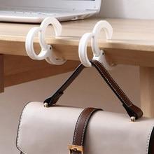 Crochet de bureau Portable en forme de S, 2 pièces, pour sac à main, sac d'école, organisateur de bureau, support de sac de Table